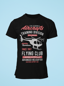 Flying Club - Men's Half Sleeve T-Shirt - Black