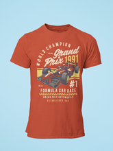 Grand Prix - Men's Half Sleeve T-Shirt - Brick Red