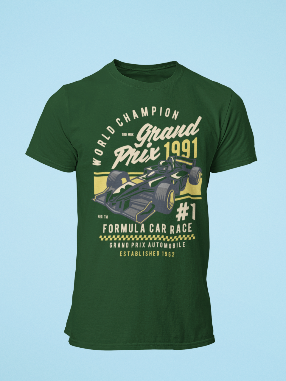 Grand Prix - Men's Half Sleeve T-Shirt - Green