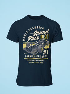 Grand Prix - Men's Half Sleeve T-Shirt - Navy Blue