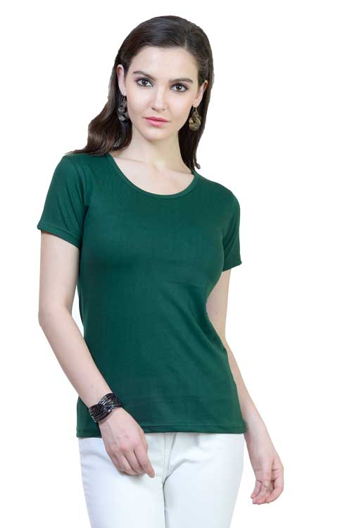 Plain - Women's Half Sleeve T-Shirt - Green
