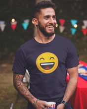 Happy - Men's Half Sleeve T-Shirt - Ink Blue