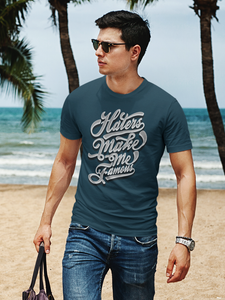 Make Me Famous - Men's Half Sleeve T-Shirt - Petrol Blue
