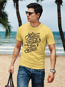 Make Me Famous - Men's Half Sleeve T-Shirt - Yellow
