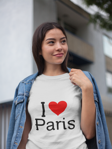I Love Paris - Women's Half Sleeve T-Shirt - White