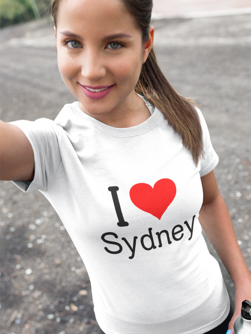 I Love Sydney - Women's Half Sleeve T-Shirt - White