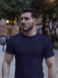 Plain - Men's Half Sleeve T-Shirt - Ink Blue
