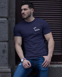 Tees Fashion - Men's Half Sleeve T-Shirt - Ink Blue