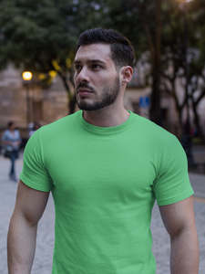 Plain - Men's Half Sleeve T-Shirt - Kiwi Green