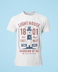Light House - Men's Half Sleeve T-Shirt - White