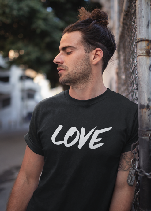 Love - Men's Half Sleeve T-Shirt - Black