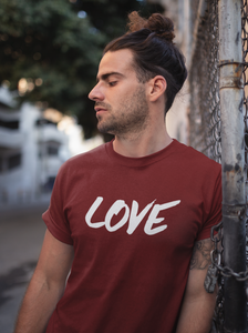 Love - Men's Half Sleeve T-Shirt - Maroon