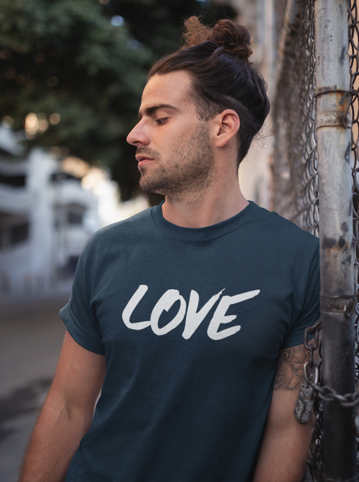 Love - Men's Half Sleeve T-Shirt - Navy blue
