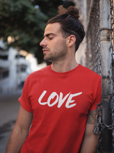 Love - Men's Half Sleeve T-Shirt - Red
