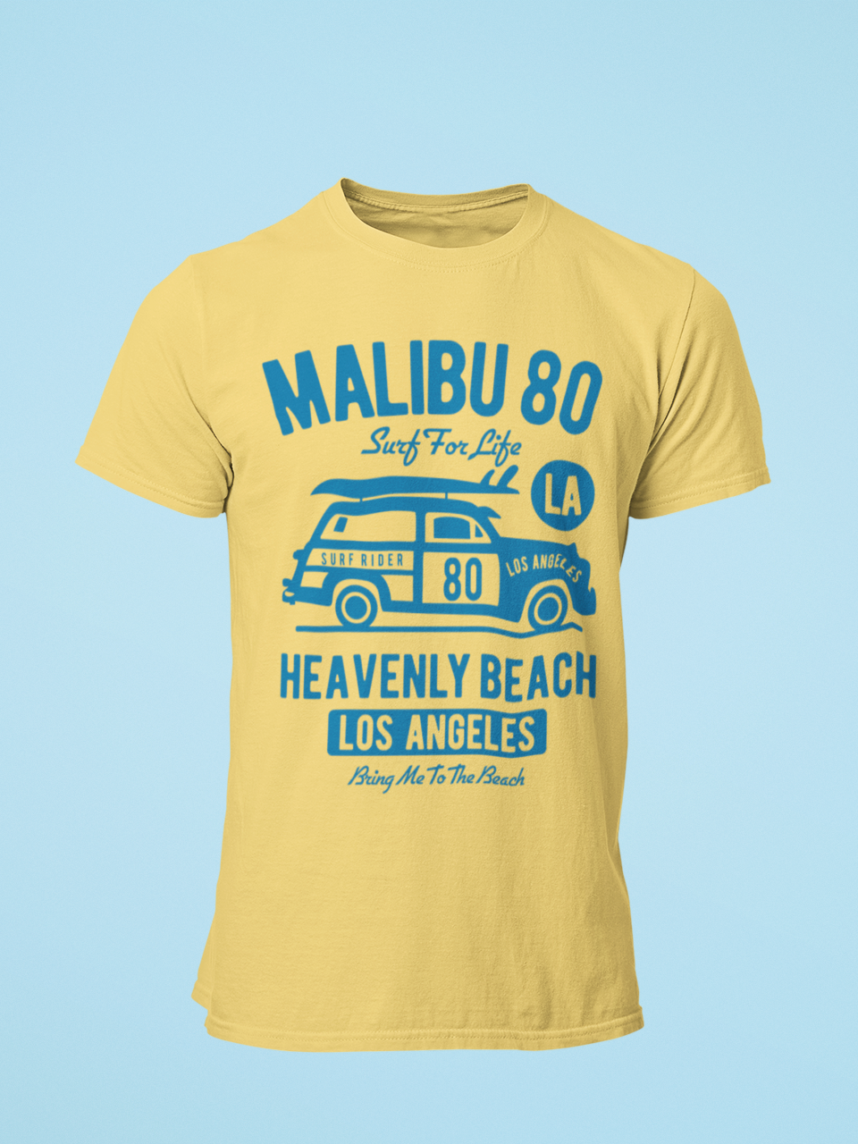 Malibu - Men's Half Sleeve T-Shirt - Yellow