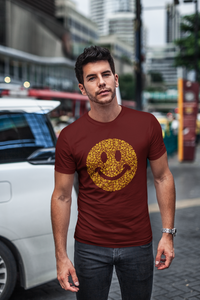 Emoji - Men's Half Sleeve T-Shirt - Maroon