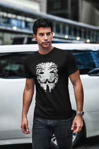 Mask Face - Men's Half Sleeve T-Shirt - Black