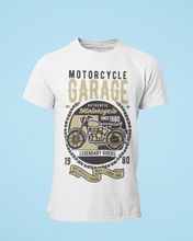 Motor Garage - Men's Half Sleeve T-Shirt - White