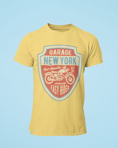 New York Garage - Men's Half Sleeve T-Shirt - Yellow