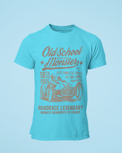Old School Monster - Men's Half Sleeve T-Shirt - Blue