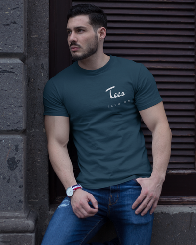 Tees Fashion - Men's Half Sleeve T-Shirt - Petrol Blue