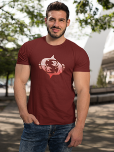 Pisces Devot - Men's Half Sleeve T-Shirt - Maroon