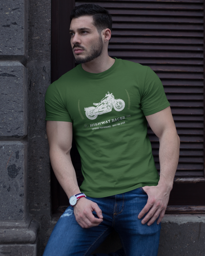 Racer - Men's Half Sleeve T-Shirt - Green
