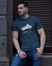 Racer - Men's Half Sleeve T-Shirt - Navy Blue
