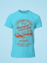 Racing Cars - Men's Half Sleeve T-Shirt - Blue