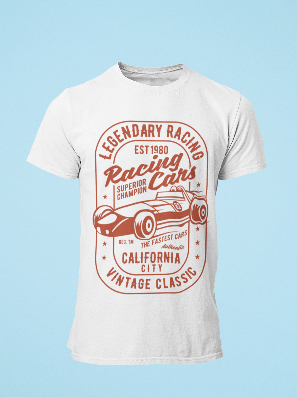 Racing Cars - Men's Half Sleeve T-Shirt - White