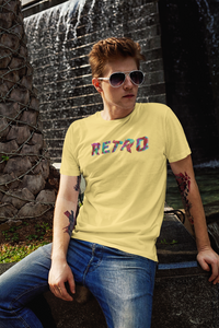 Retro - Men's Half Sleeve T-Shirt - Yellow