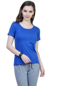 Plain - Women's Half Sleeve T-Shirt - Royal Blue