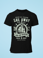 Sail Away - Men's Half Sleeve T-Shirt - Black