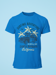 Santa Barbara - Men's Half Sleeve T-Shirt - Royal Blue