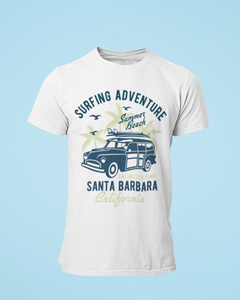 Santa Barbara - Men's Half Sleeve T-Shirt - White