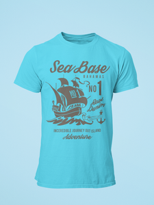Sea Base - Men's Half Sleeve T-Shirt - Blue