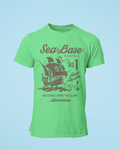 Sea Base - Men's Half Sleeve T-Shirt - Kiwi Green