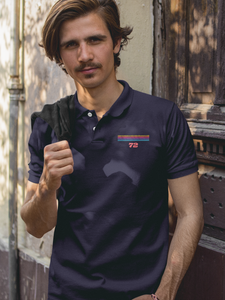 Seven Two - Men's Polo T-Shirt - Navy Blue