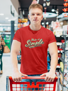 Simplify - Men's Half Sleeve T-Shirt - Red