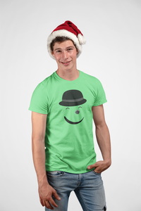 Smiley - Men's Half Sleeve T-Shirt - Kiwi Green