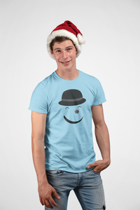 Smiley - Men's Half Sleeve T-Shirt - Blue
