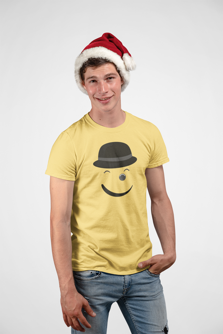 Smiley - Men's Half Sleeve T-Shirt - Yellow