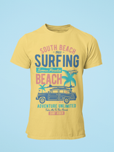 South Beach Surfing - Men's Half Sleeve T-Shirt - Yellow
