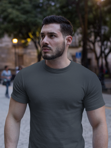 Plain - Men's Half Sleeve T-Shirt - Steel Grey
