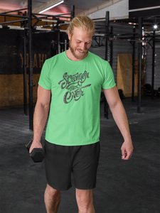 Stronger Ever - Men's Half Sleeve T-Shirt - Kiwi Green