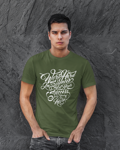 Success - Men's Half Sleeve T-Shirt - Olive Green