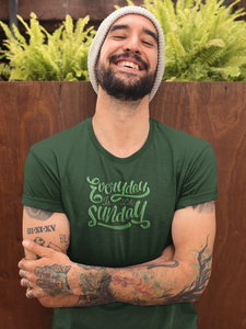 Sunday Everyday - Men's Half Sleeve T-Shirt - Green