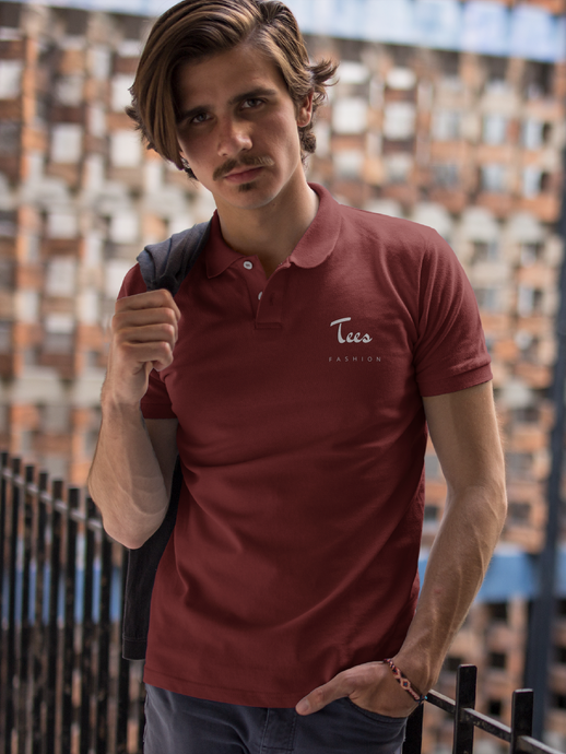 Tees Fashion - Men's Polo T-Shirt - Maroon