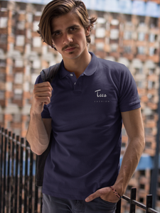Tees Fashion - Men's Polo T-Shirt - Navy Blue