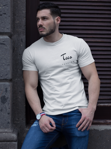 Tees Fashion - Men's Half Sleeve T-Shirt - White